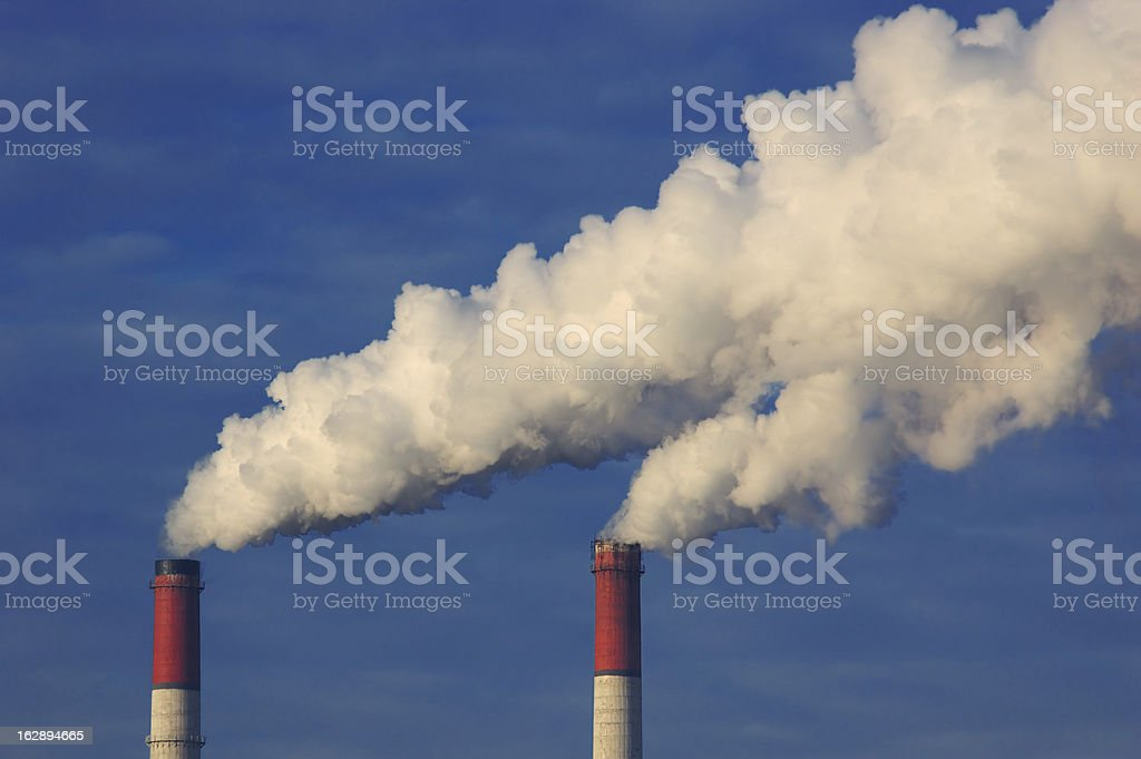 Smoke from the pipes royalty-free stock photo