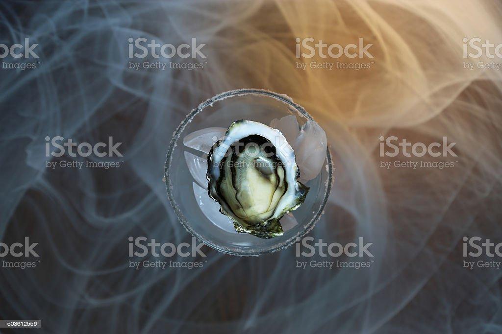 Smoke Gigas Oyster stock photo