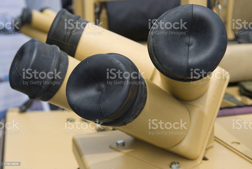 Smoke grenade launcher stock photo