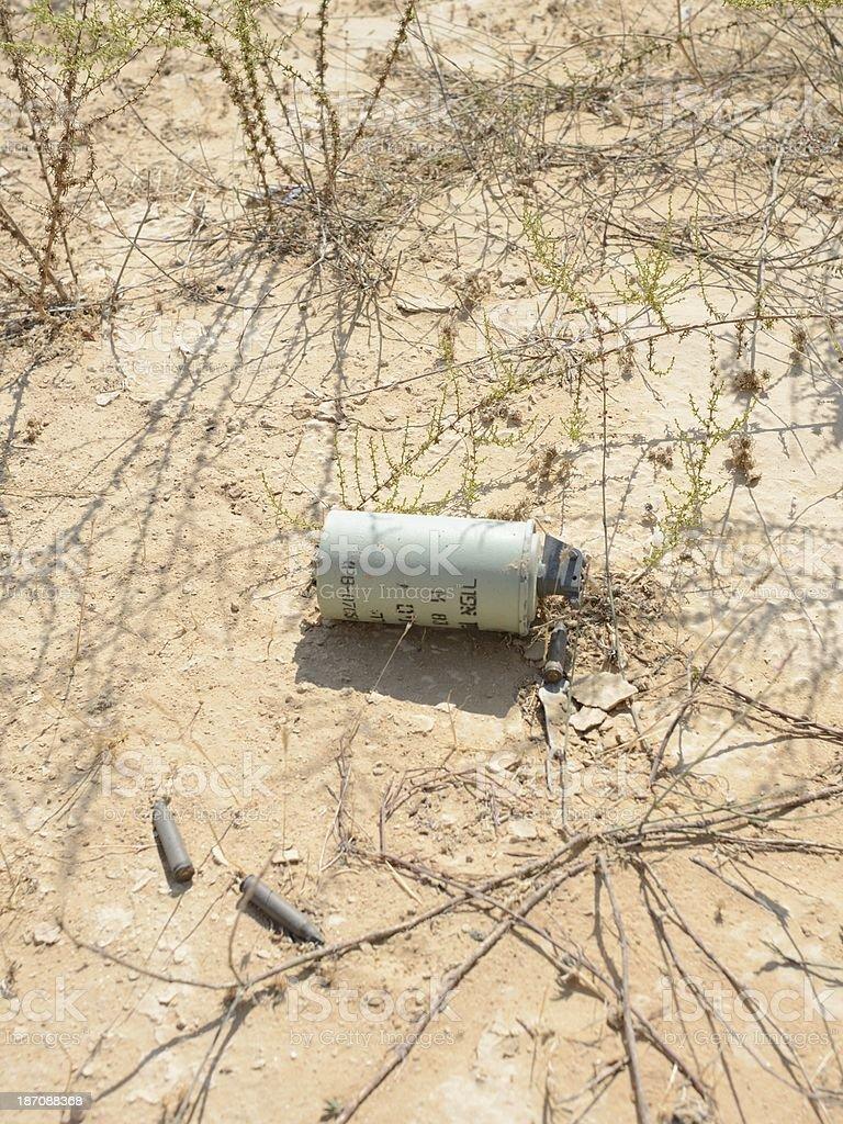 Smoke grenade stock photo