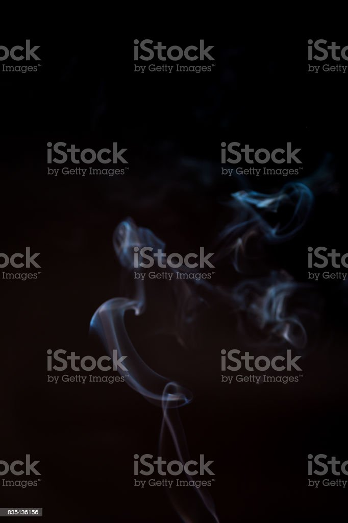 Smoke in black background stock photo