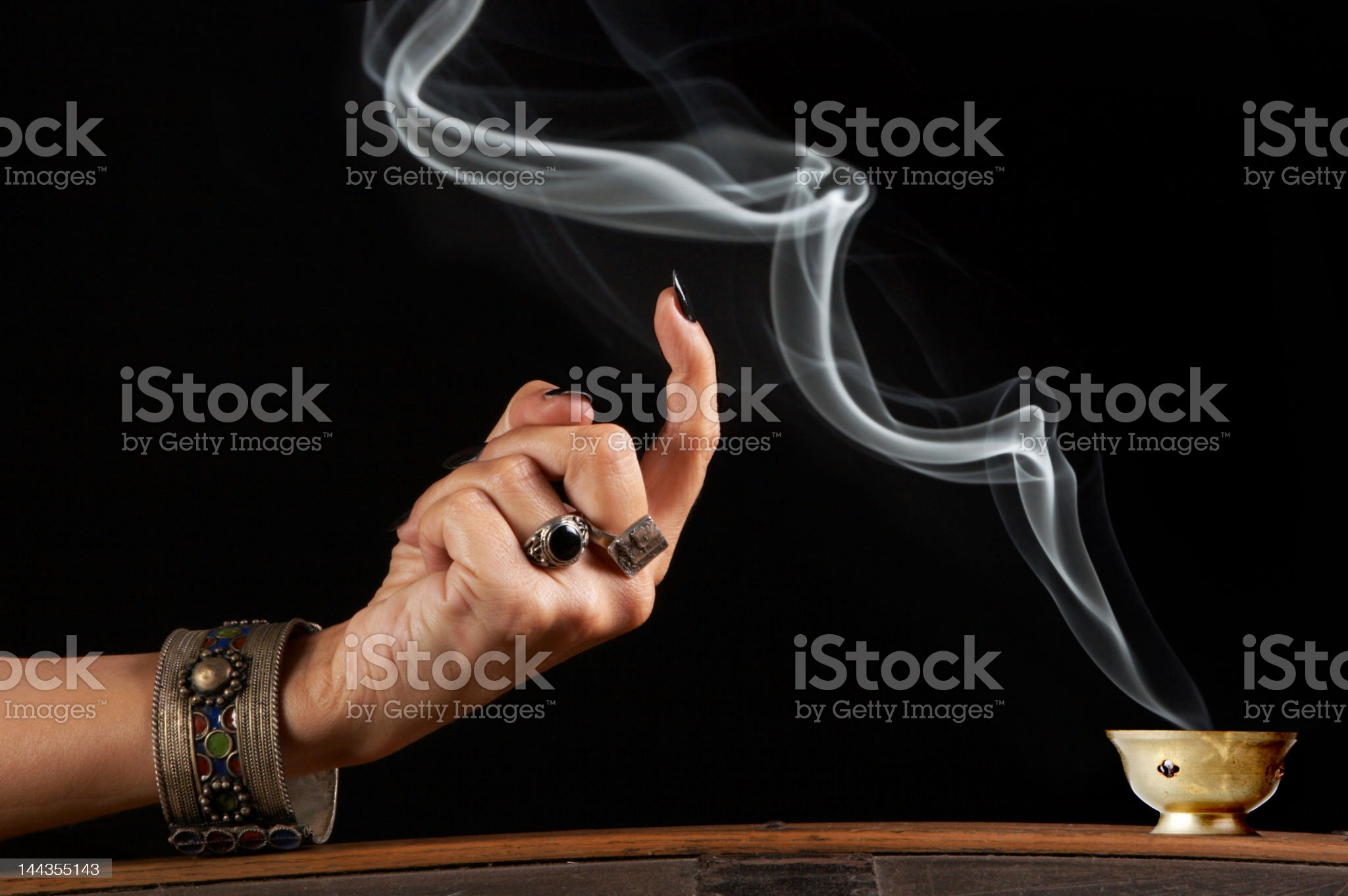 Smoke in command royalty-free stock photo