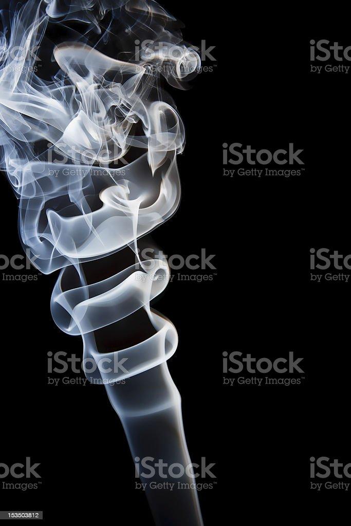 smoke in the dark stock photo