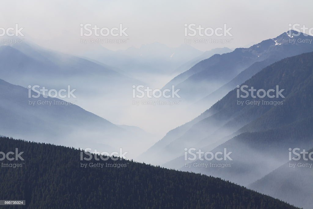 Smoke In The Valley From Fires stock photo