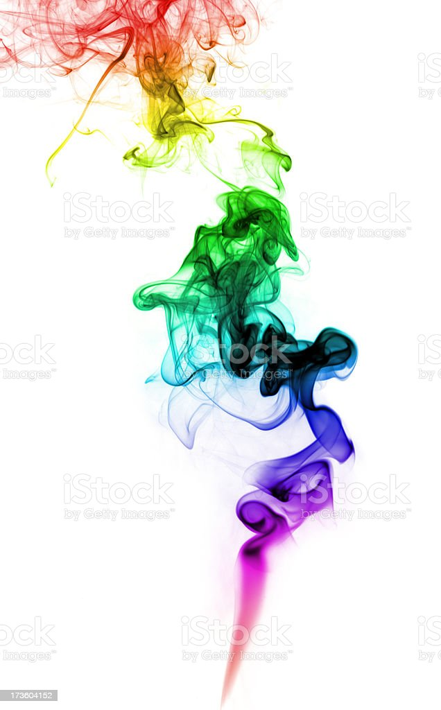 Smoke Induced Visions; Colorful Hallucinogenic Psychedelic Drug Art royalty-free stock photo