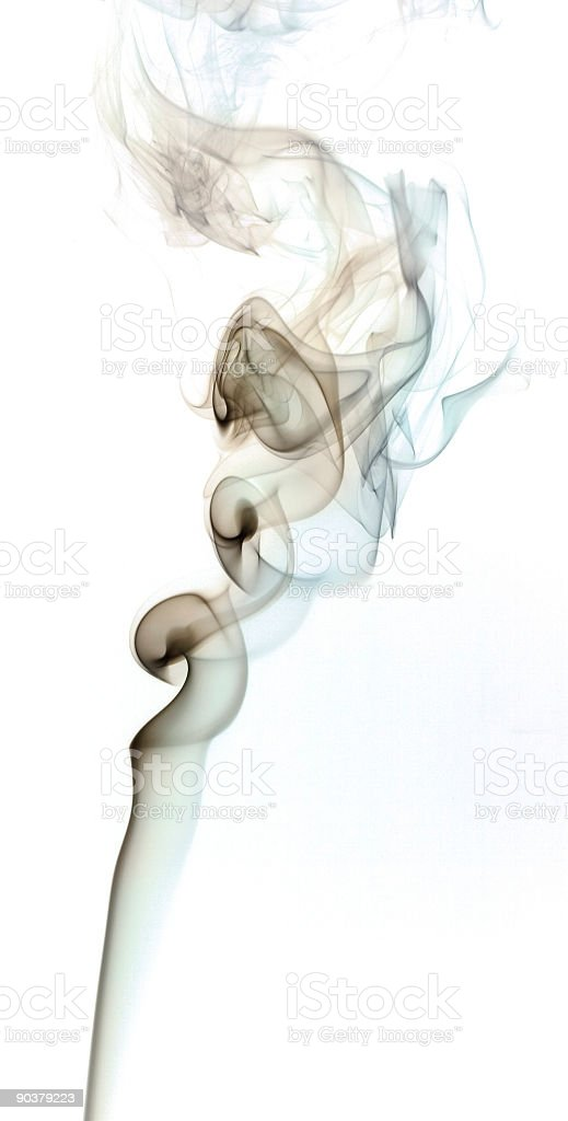 Smoke isolated against a white background. royalty-free stock photo