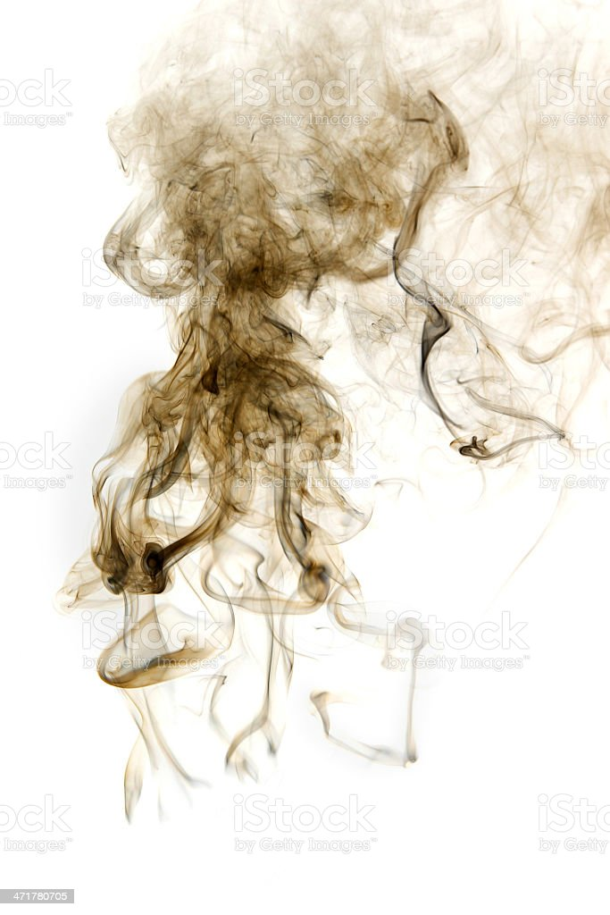 Smoke isolated. royalty-free stock photo