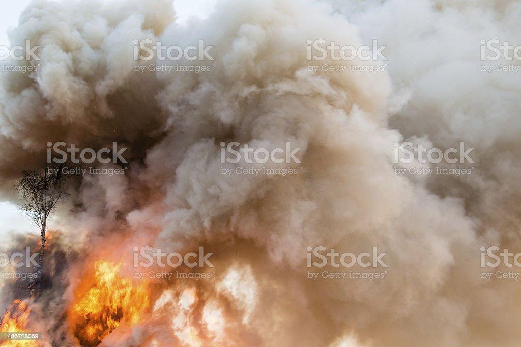 Smoke of Easter Bonfire royalty-free stock photo
