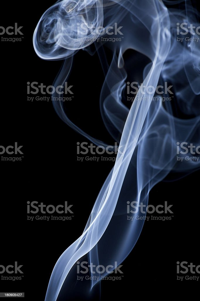 Smoke on a black background royalty-free stock photo