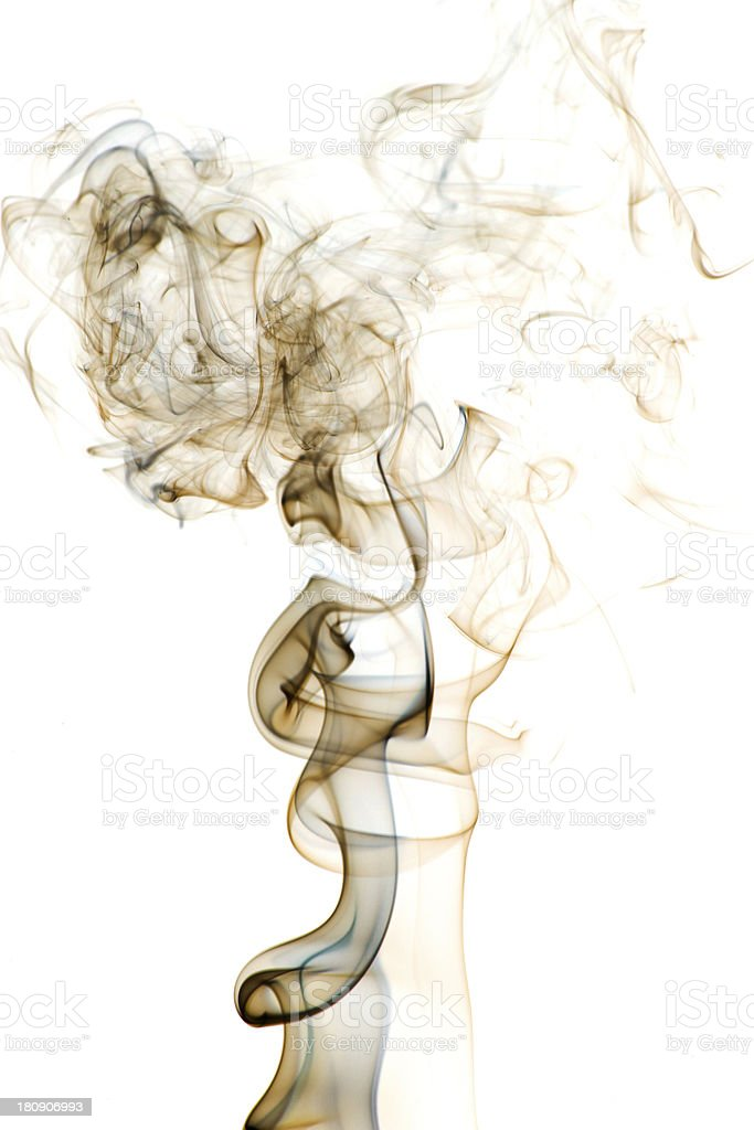 Smoke on a white background royalty-free stock photo