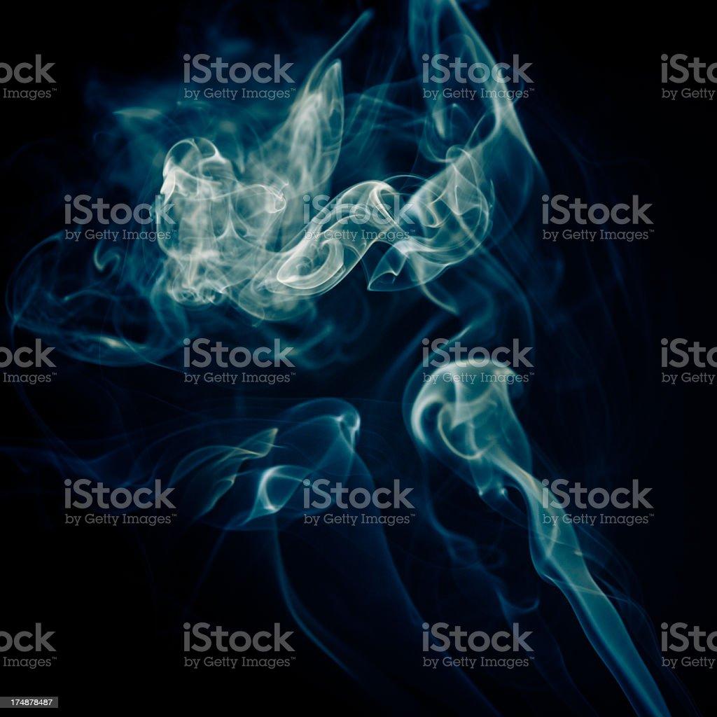 smoke on black background royalty-free stock photo