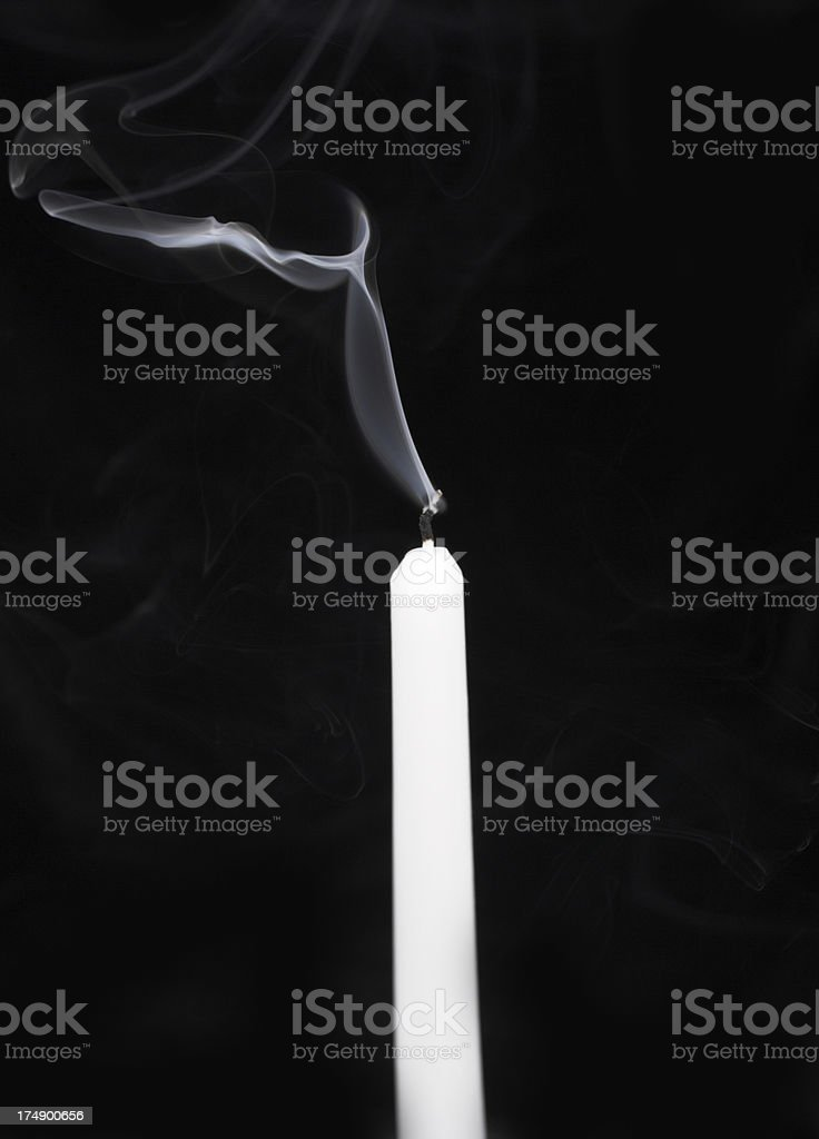 Smoke on black stock photo