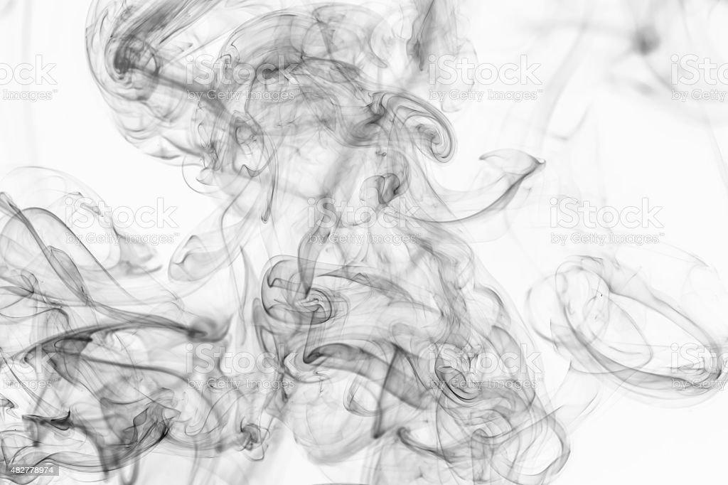 Smoke on white background stock photo