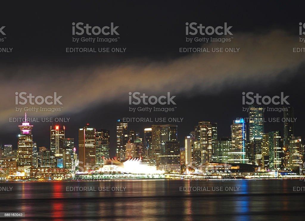 Smoke Over Downtown Vancouver stock photo