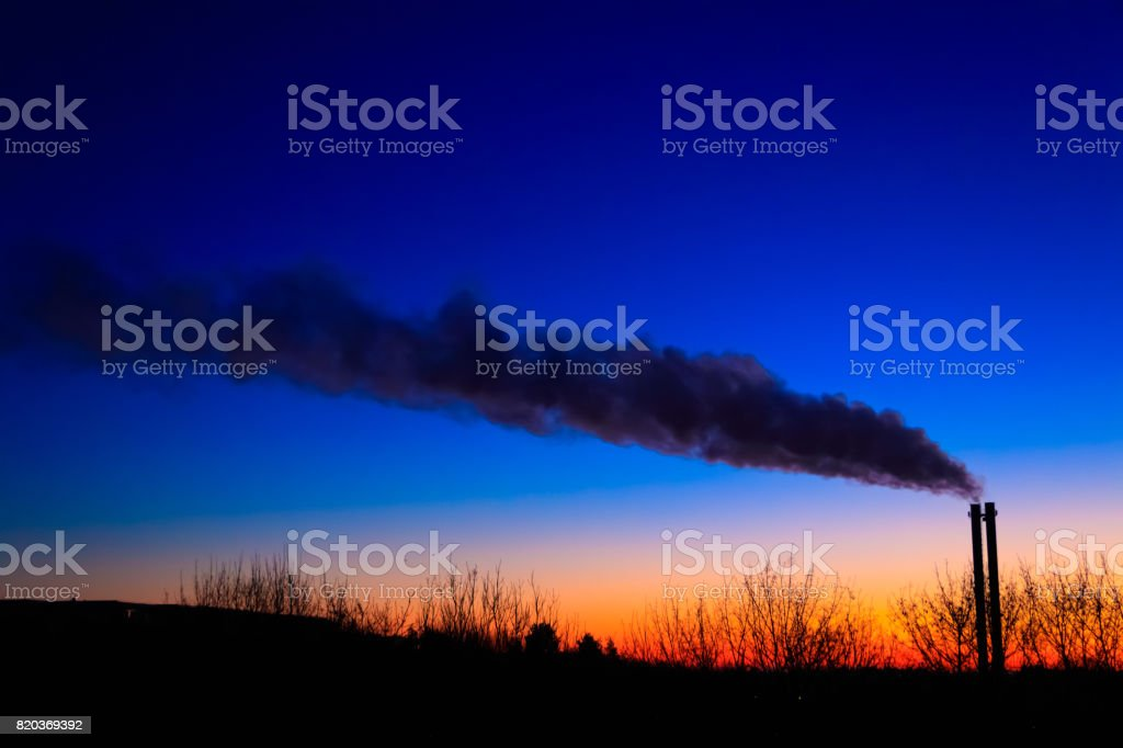 Smoke over the Chimney stock photo