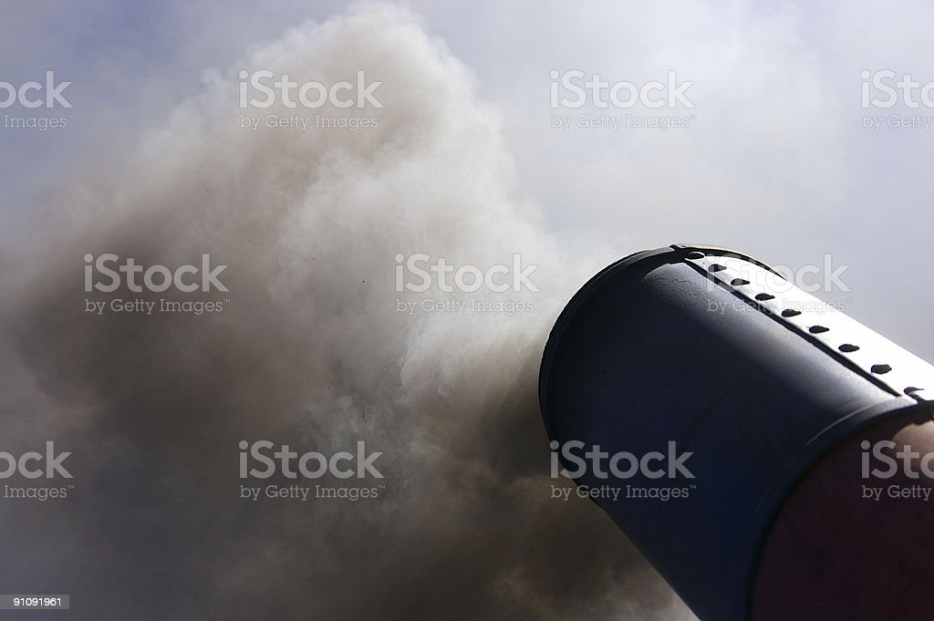 smoke stack 3 royalty-free stock photo
