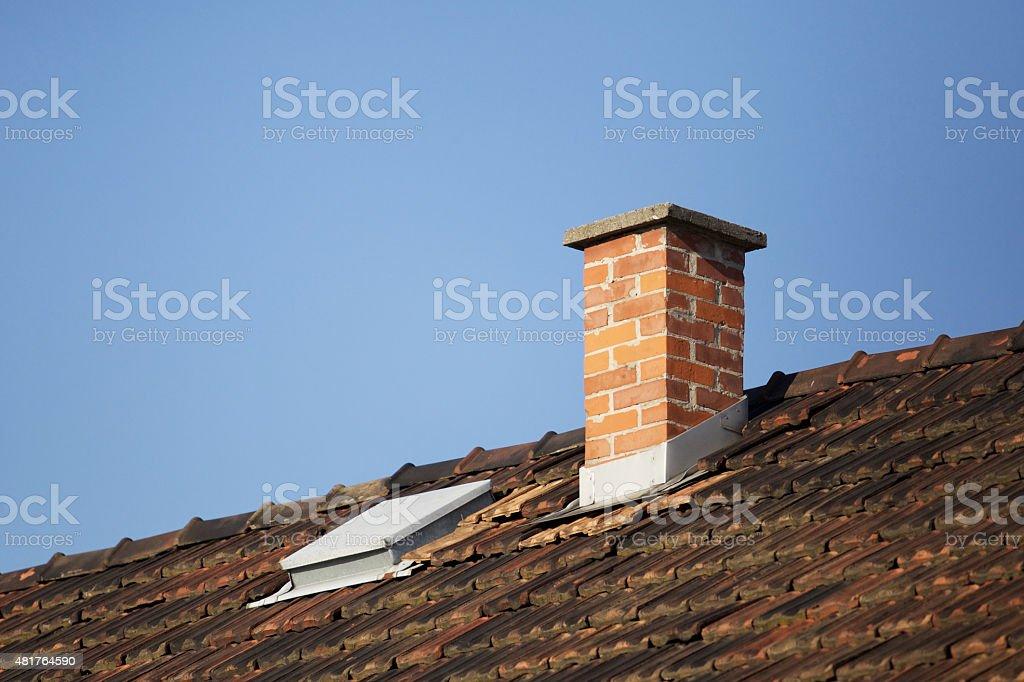 Smoke stack, chimney stock photo