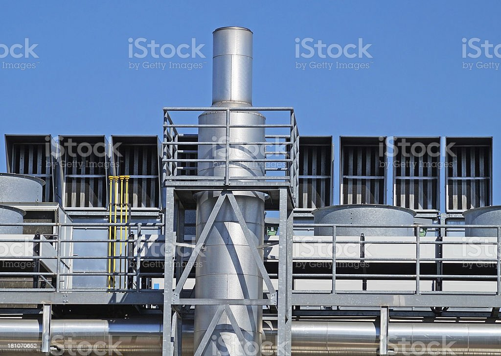 smoke stack of the power plant royalty-free stock photo