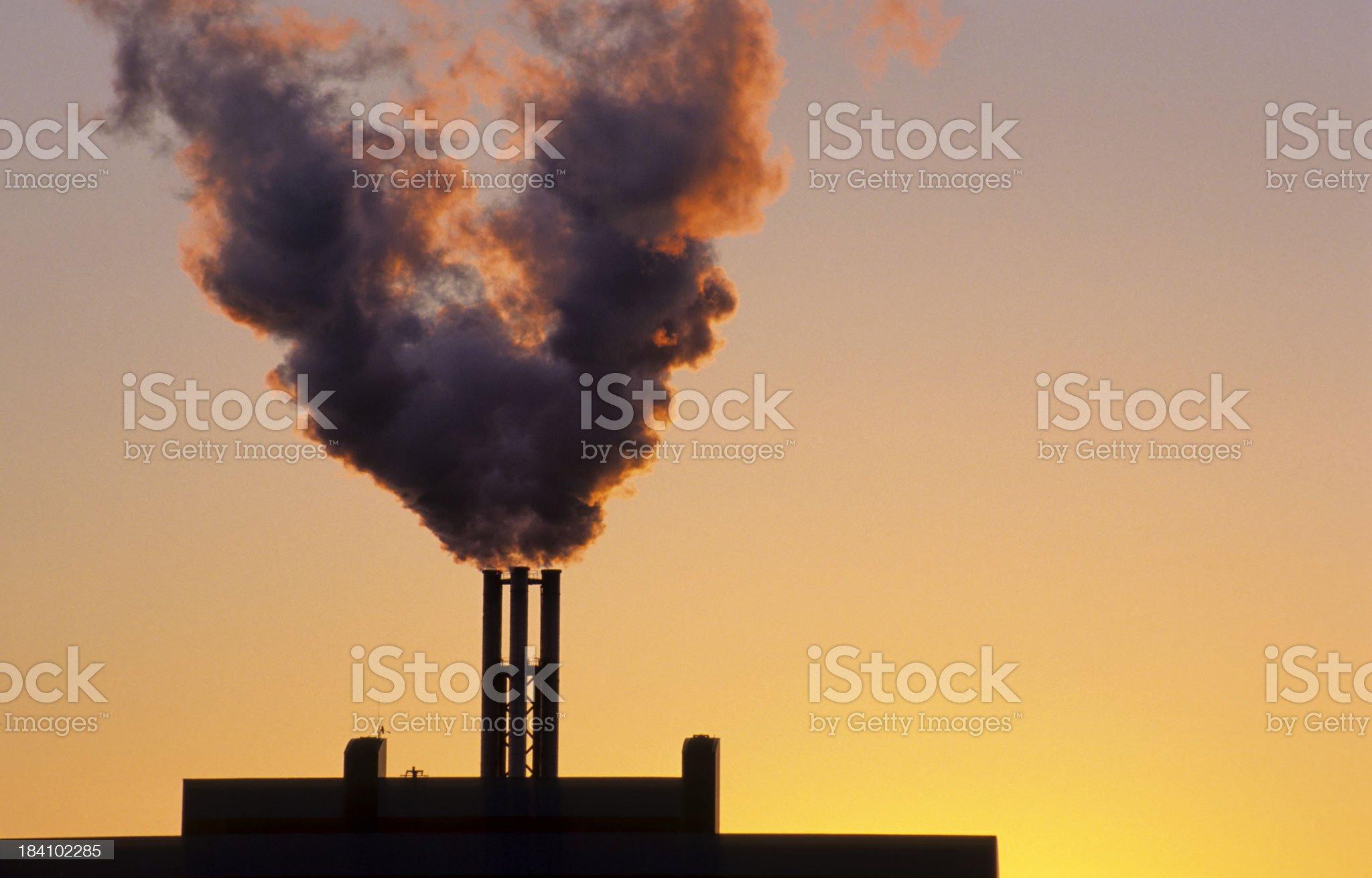 Smoke Stack royalty-free stock photo