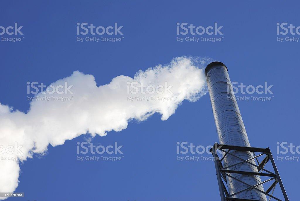 Smoke stack- pollution royalty-free stock photo