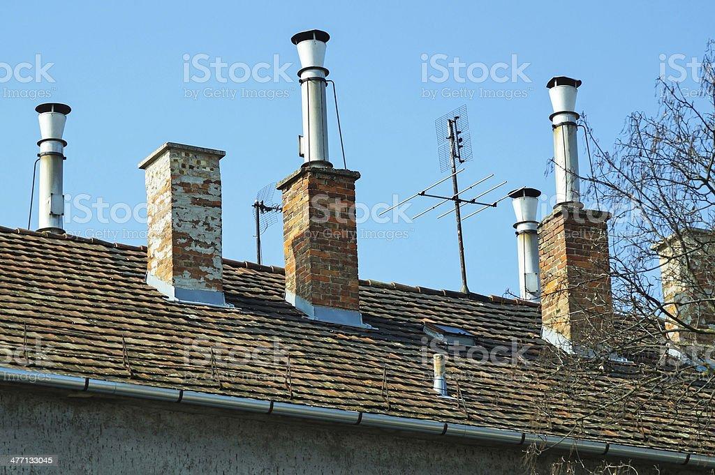 smoke stacks royalty-free stock photo