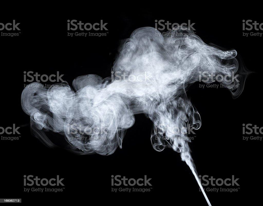 Smoke steam royalty-free stock photo