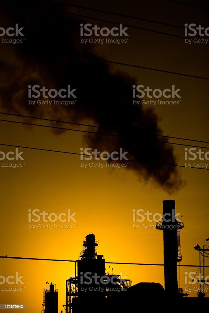 Smoke Sunset royalty-free stock photo