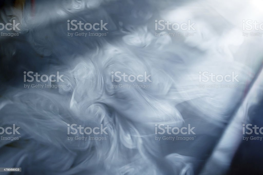 Smoke the room in sunlight stock photo