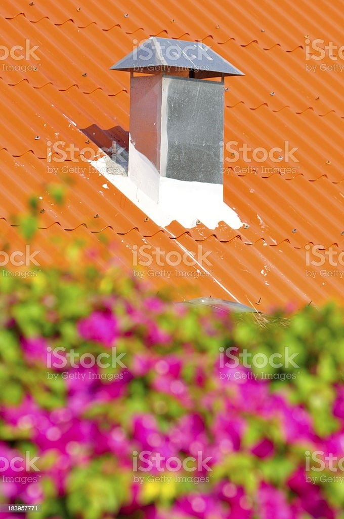 Smoke vent in the roof. royalty-free stock photo