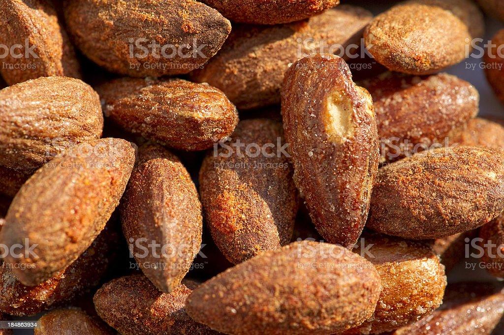 Smoked Almonds stock photo