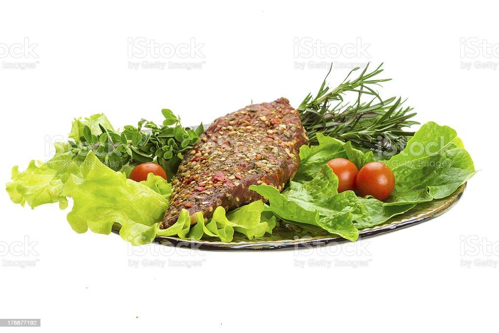 Smoked beef royalty-free stock photo