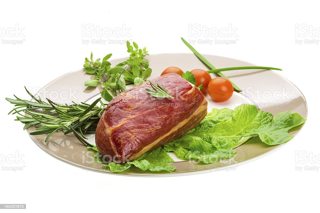 Smoked beef royalty-free stock photo