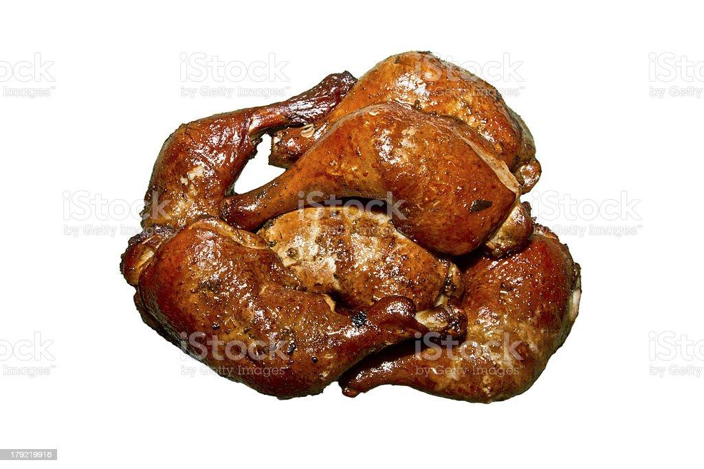 smoked chicken legs royalty-free stock photo