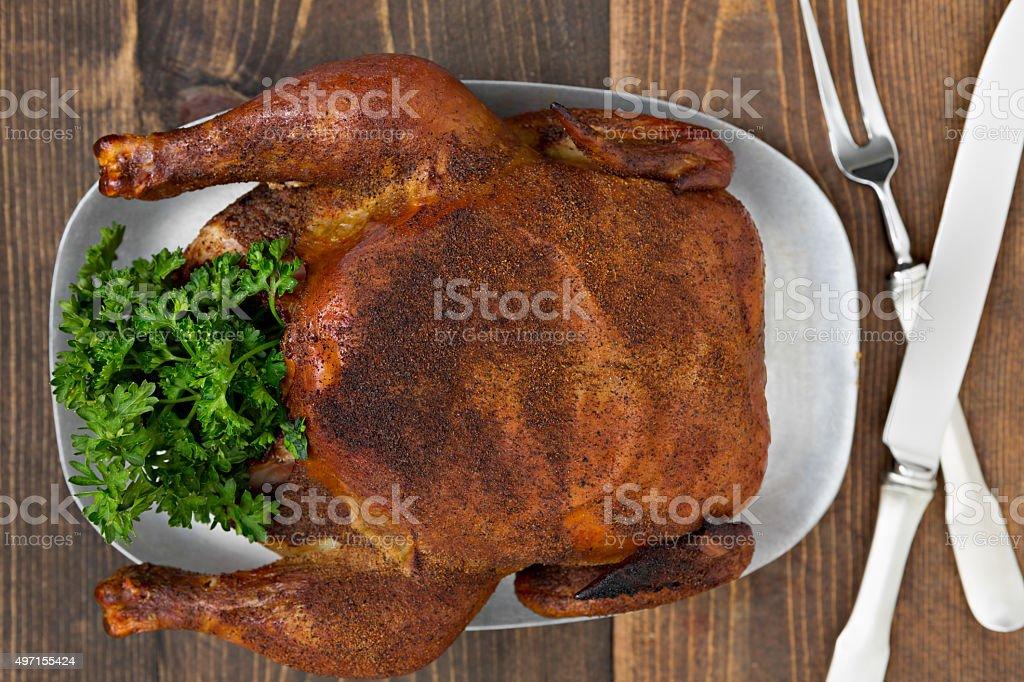 Smoked Chicken stock photo