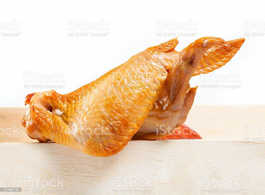 Smoked chicken wings stock photo
