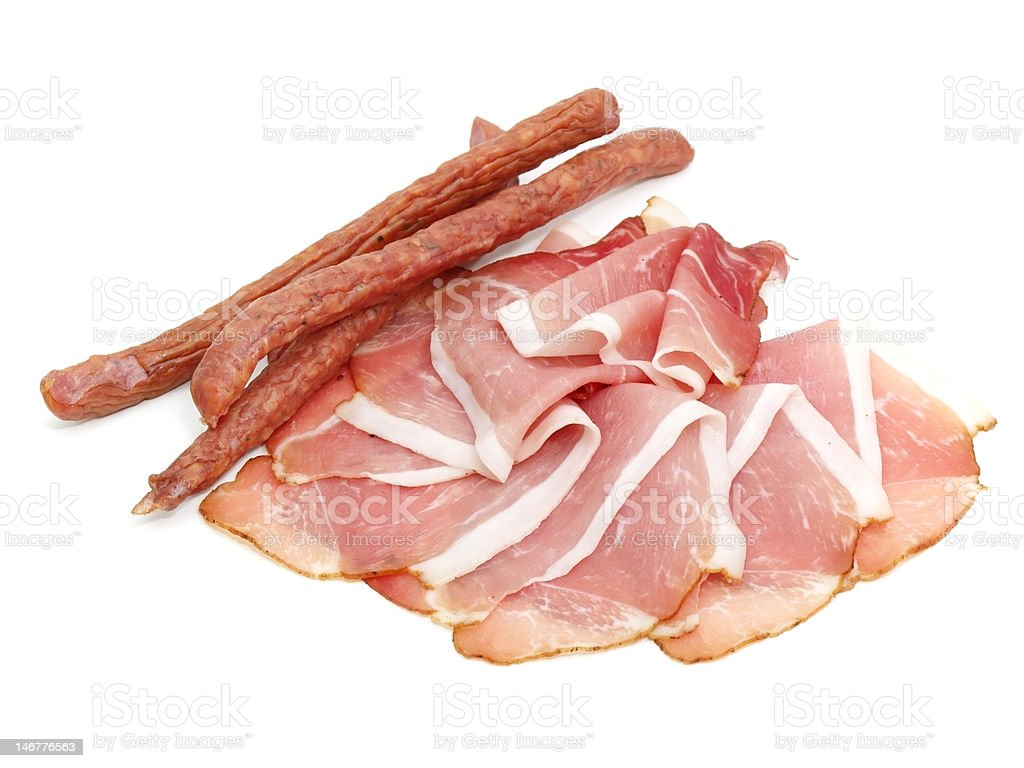 smoked coldcuts stock photo