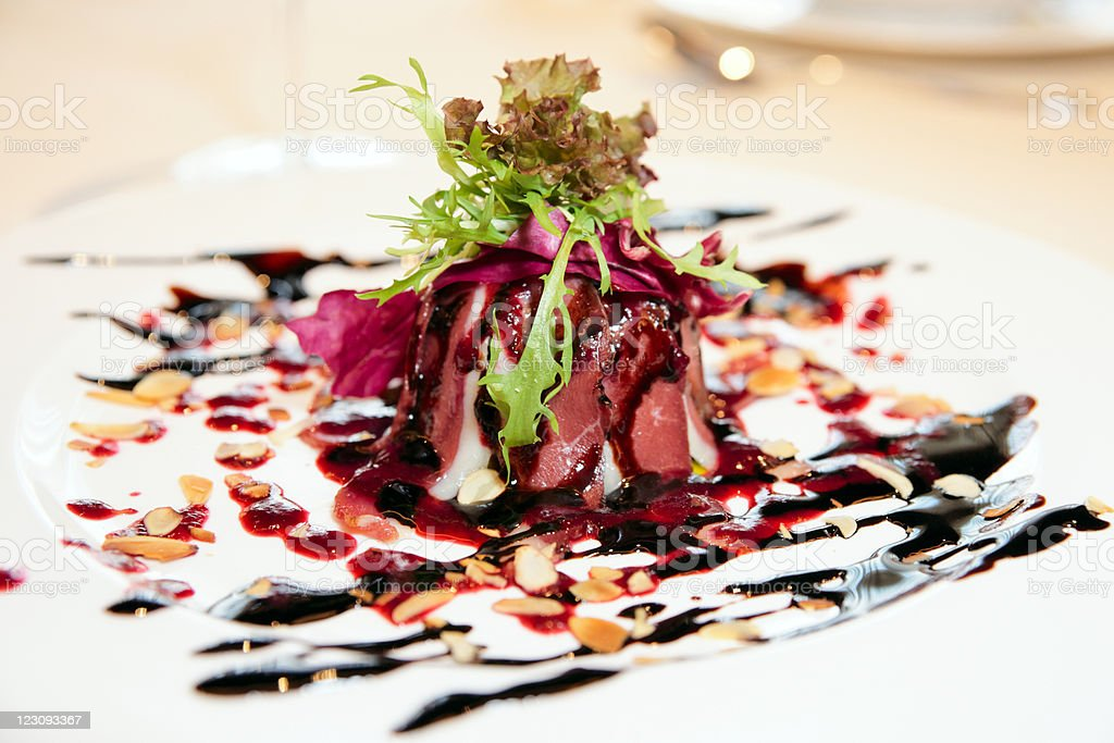 Smoked duck salad royalty-free stock photo