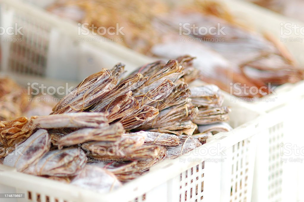 Smoked exotic food on the Thai market royalty-free stock photo