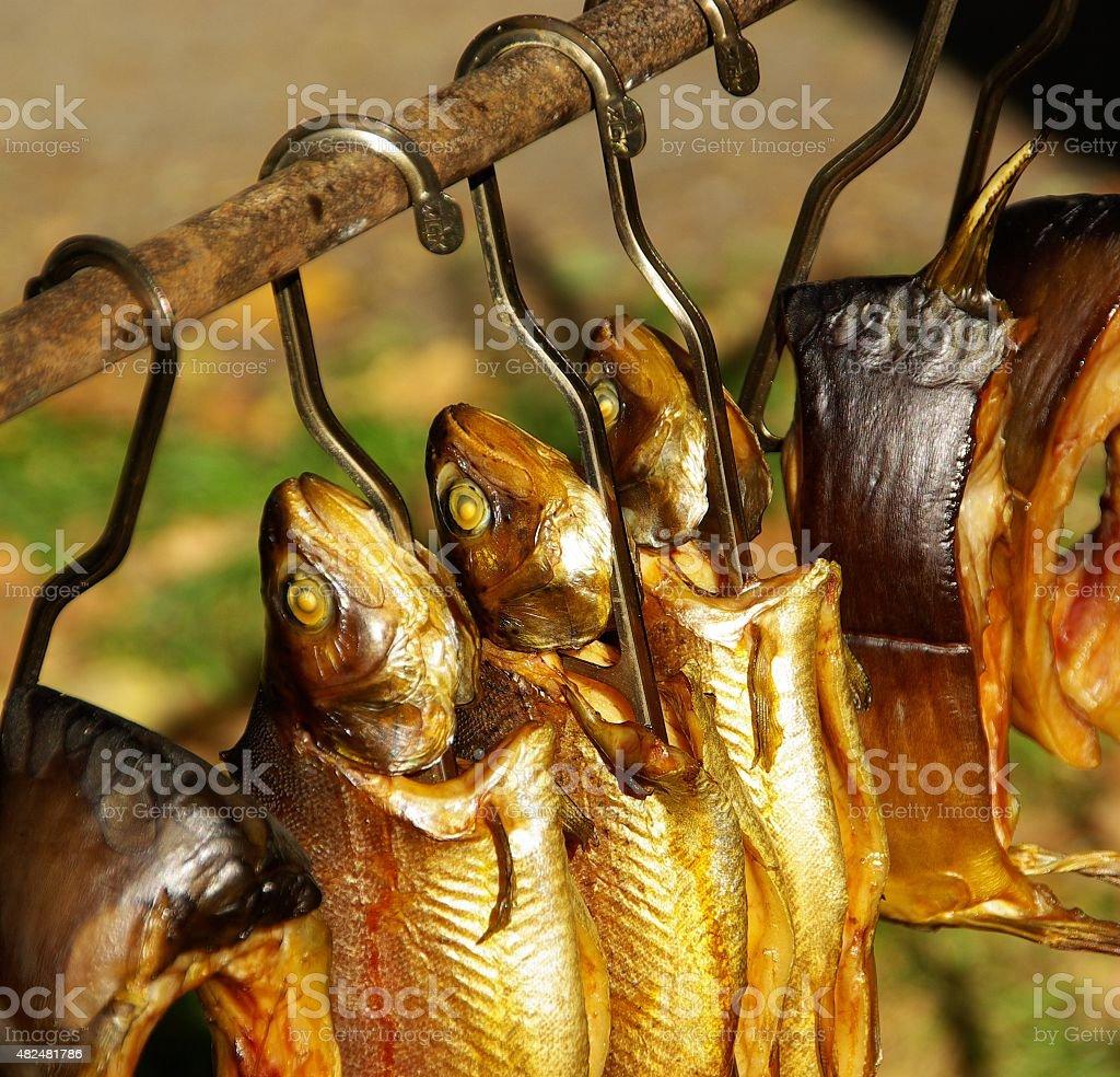 smoked fish stock photo