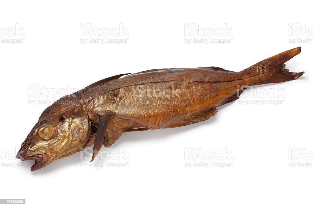Smoked haddock fish royalty-free stock photo