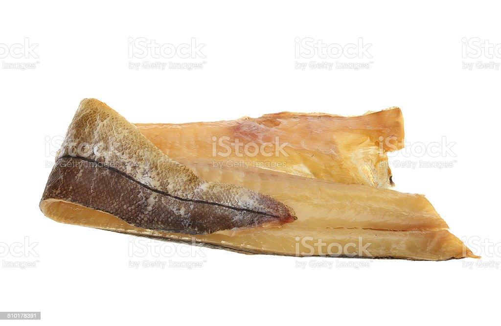 Smoked haddock stock photo
