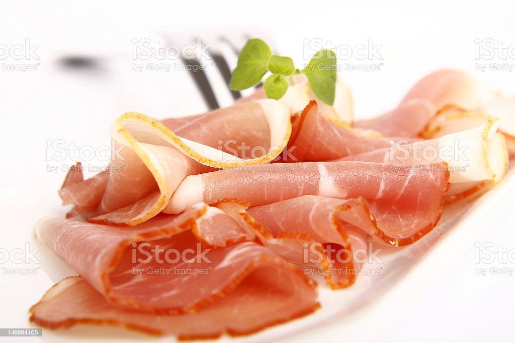 Smoked ham royalty-free stock photo