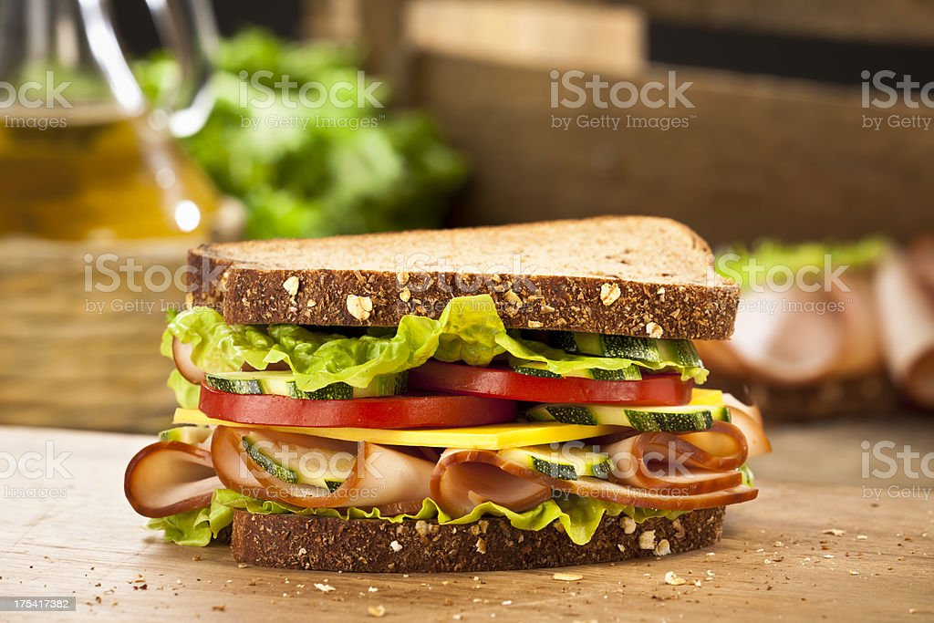 Smoked Ham Sandwich stock photo