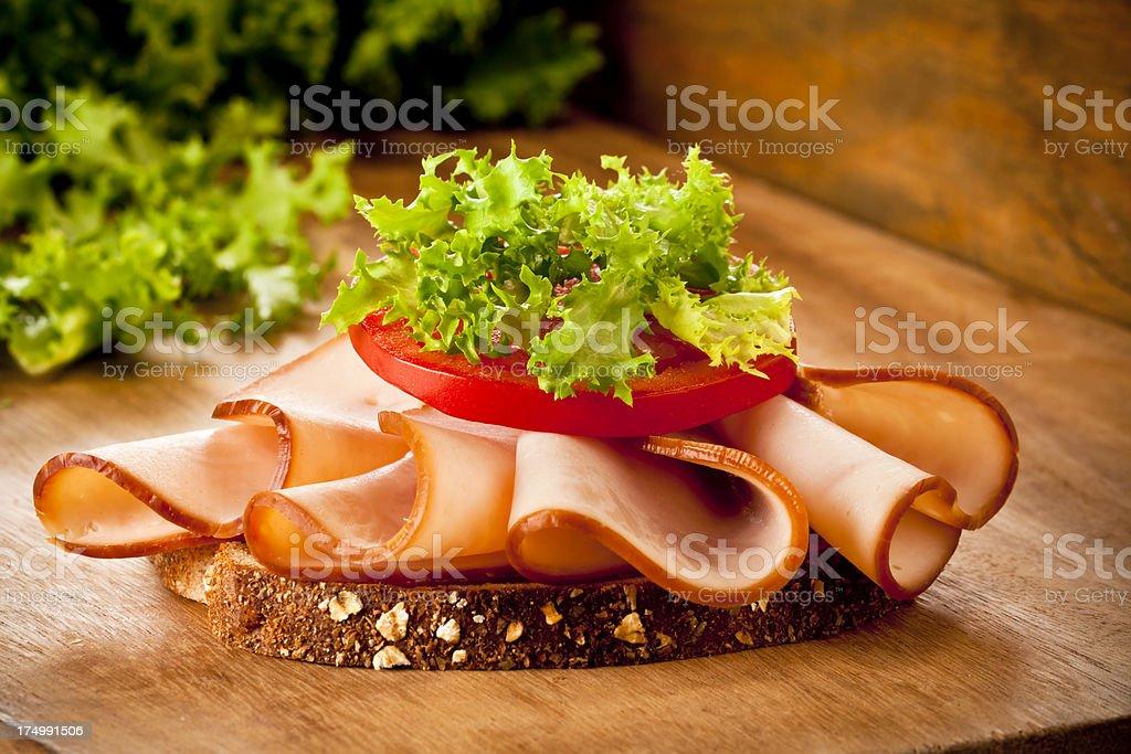 Smoked Ham Tapas royalty-free stock photo