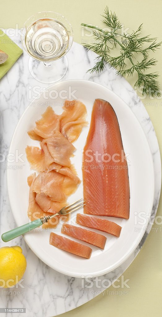 smoked lake trout royalty-free stock photo