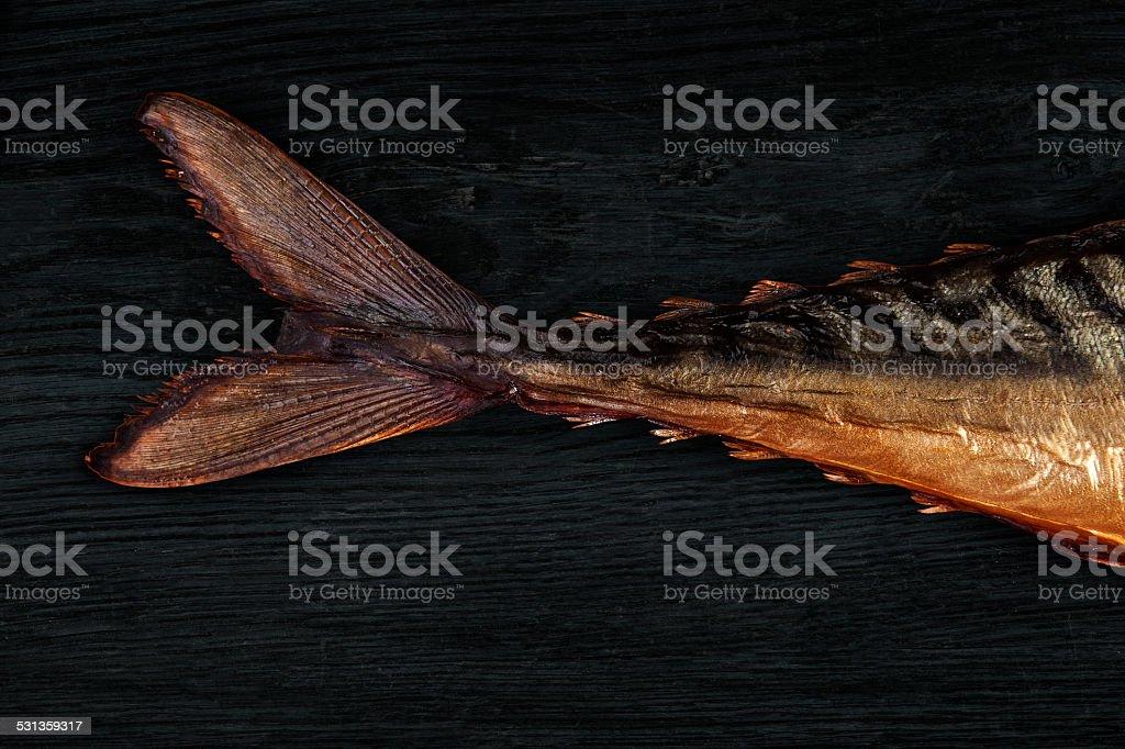 Smoked mackerel. stock photo