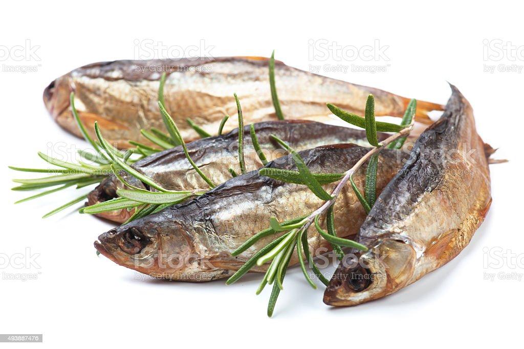 Smoked or dried fish stock photo