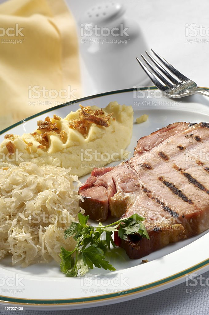 Smoked pork chop. royalty-free stock photo