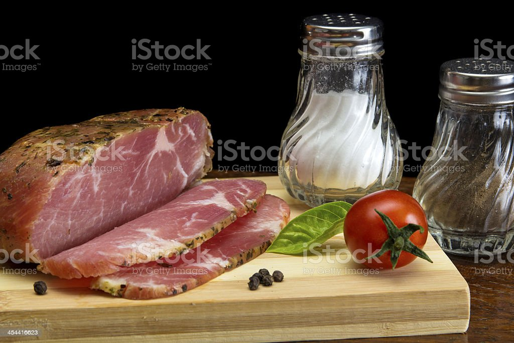 Smoked pork neck royalty-free stock photo