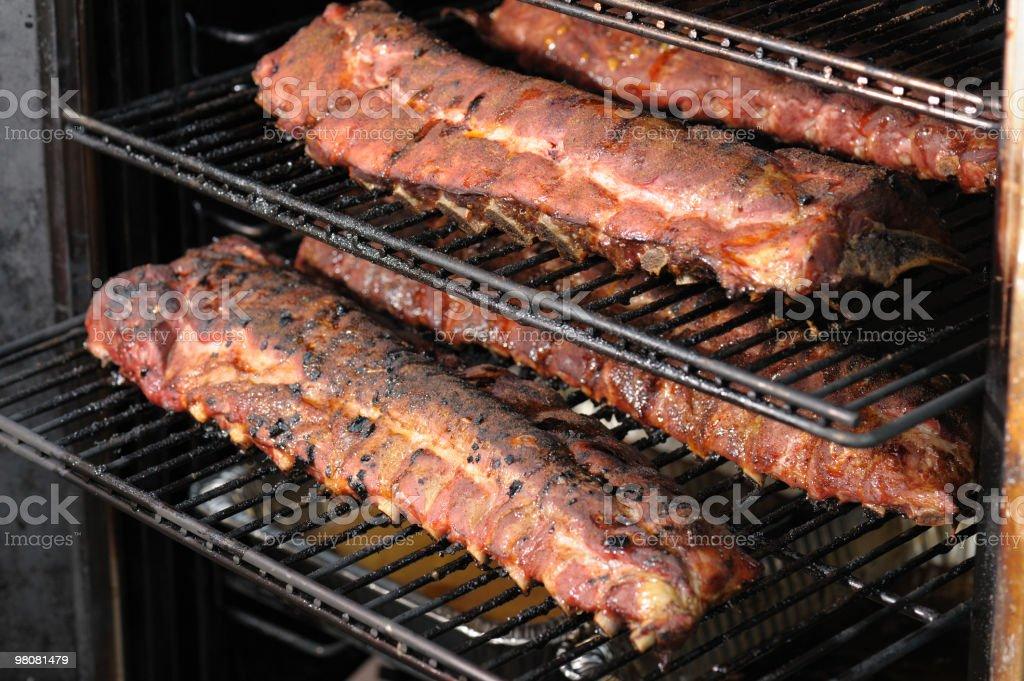 Smoked Pork Ribs Barbecue stock photo